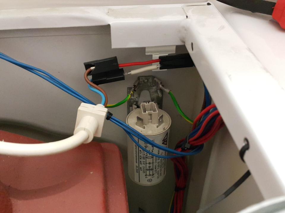 Силовая проводка стиральной машинки