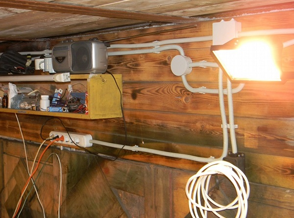 Проводка в гараже 4