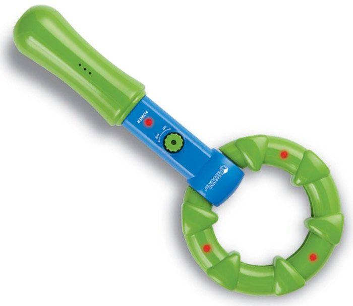 Такая игрушка позволяет обнаружить на небольшой глубине монетку или гвоздь, а также найти пропавшую на ковре иголку. Такие приборы реагируют чаще всего на «неблагородный» металл