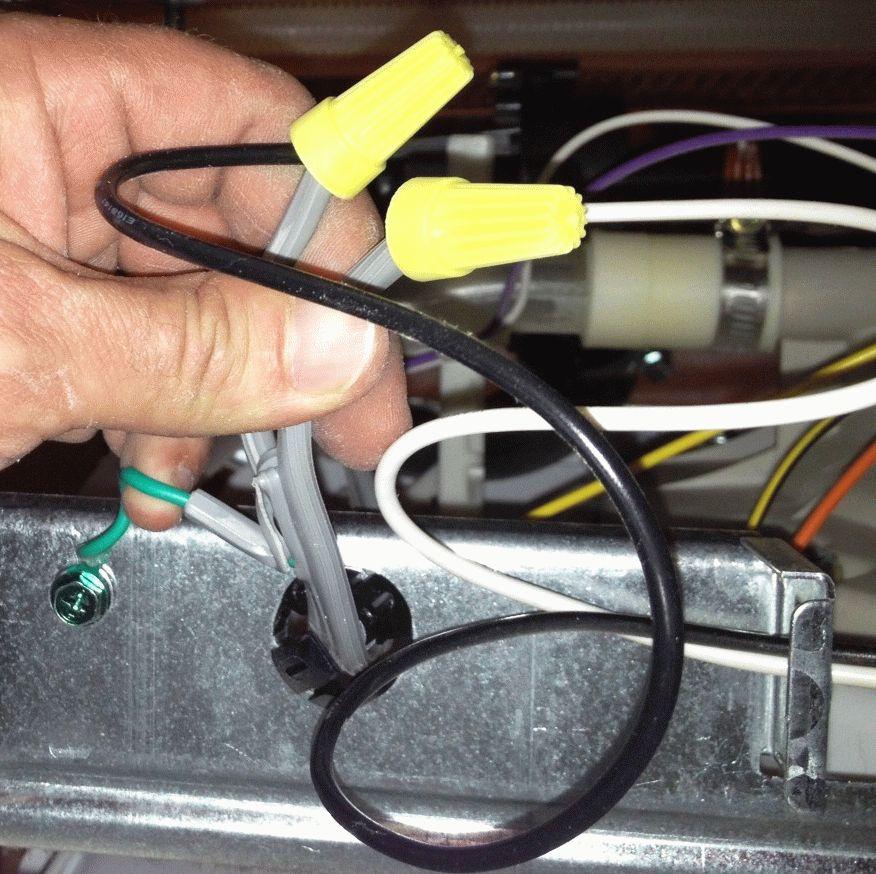 Разбор проводов в посудомоечной машине
