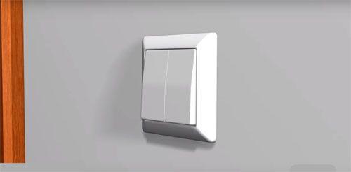 Сам себе электрик: схема подключения двухклавишного выключателя