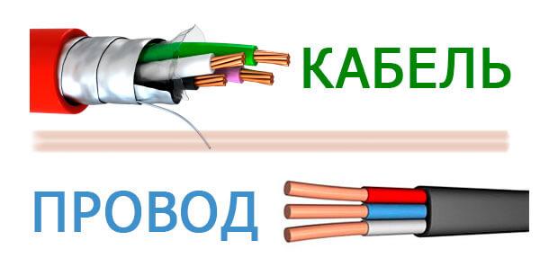 Отличия между кабелем и проводом. Фото 2