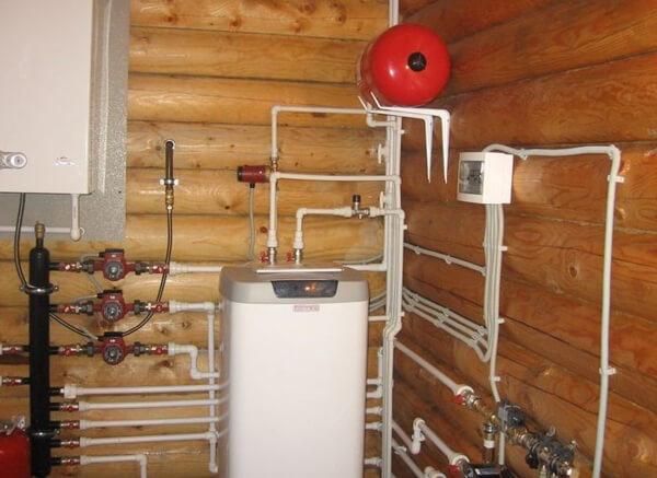 схема отопления дачного дома