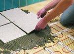 Шаг 4: Укладна напольной плитки по теплому полу