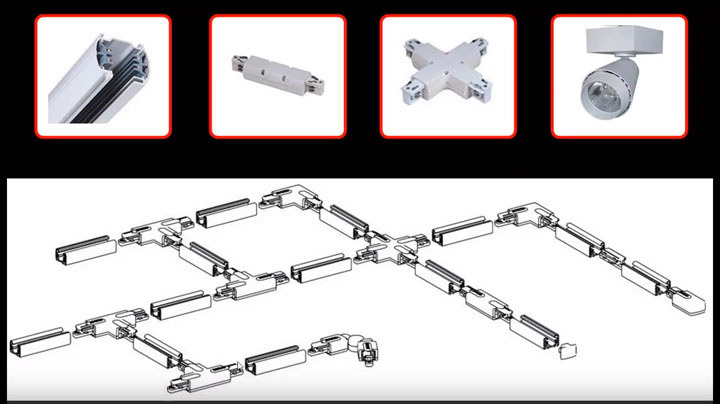 система и схема трекового освещения как собрать и подключить