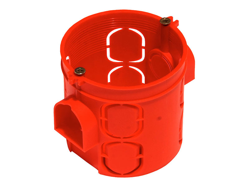 Пластиковый подрозетник с крепёжными шурупами | Выбор и установка розеток и выключателей