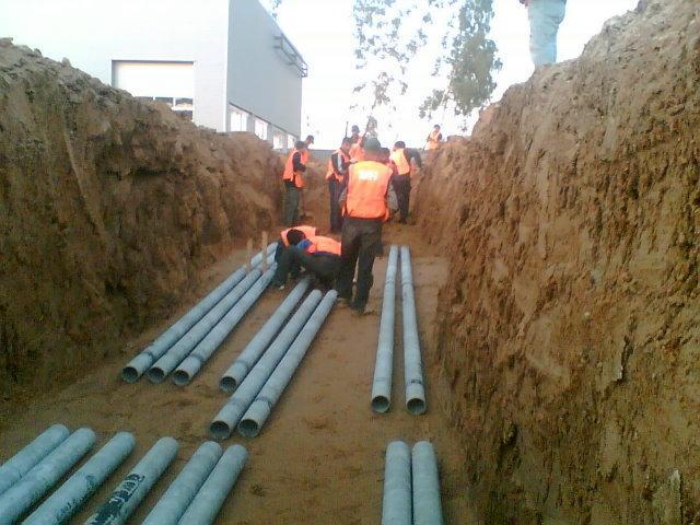 Асбестовая труба для прокладки кабеля в земле