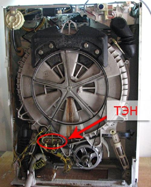 Ход работы по замене ТЭНа в стиральной машине