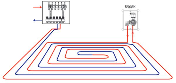 Схема подключения к двухтрубной системе отопления