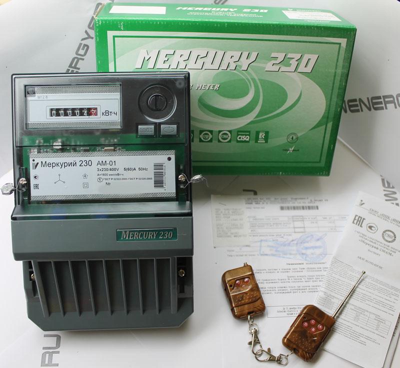 Внешний вид счетчика электроэнергии Меркурий 230