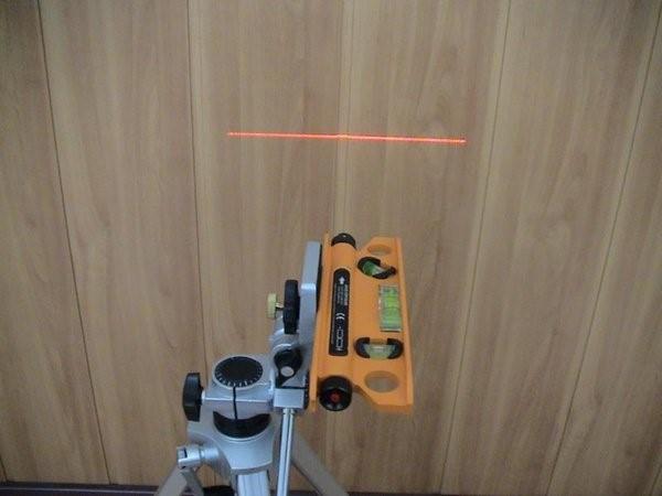 Самодельный лазерный нивелир на треноге