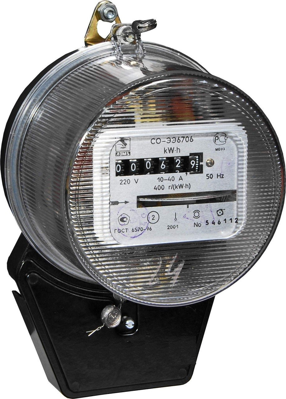 Счетчик электрической энергии индукционного типа модели СО-ЭЭ6706 с прозрачным корпусом