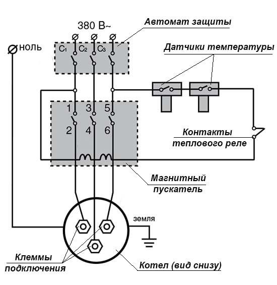 Как запитать электронагреватель от сети 380 вольт