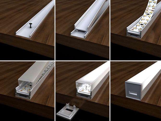 Монтаж светодиодной ленты.