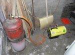 Газовая теплопушка в гараже