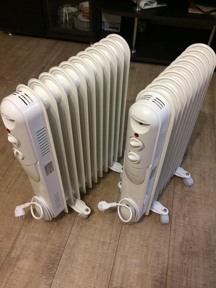 Некоторые модели могут оснащаться двумя нагревательными элементами, что внешне проявляется в наличии пары регуляторов температуры
