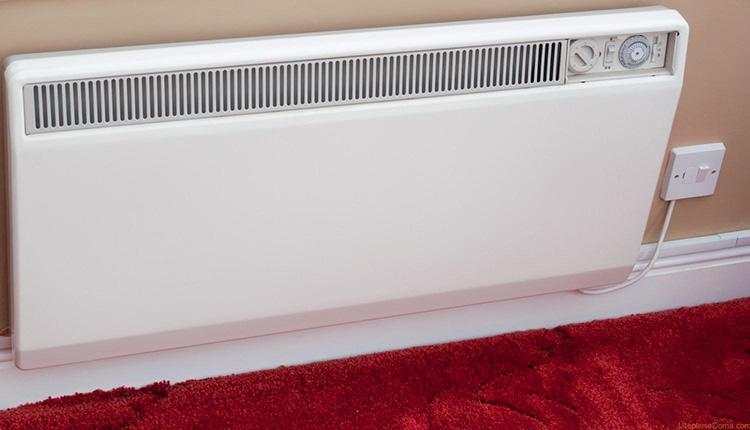 Настенный конвектор занимает мало места, но обеспечивает надёжный нагрев помещения
