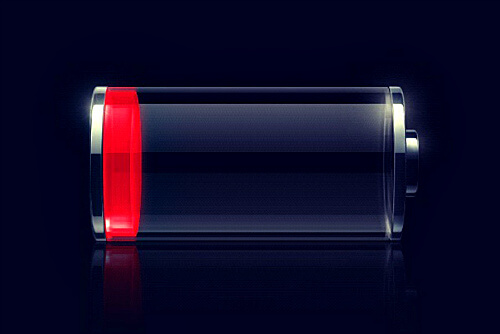 Полностью разряженная батарея