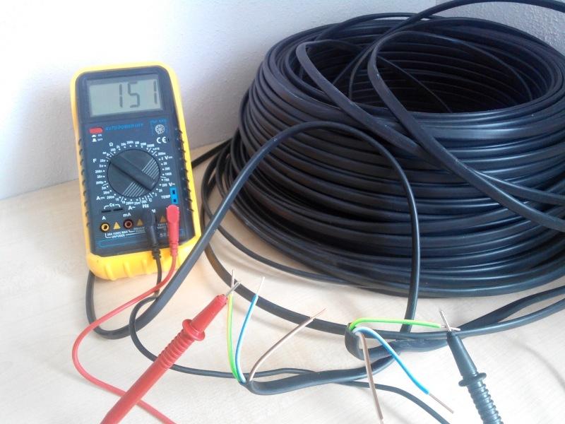 Проверка кабеля на целостность жил и изоляции с помощью тестера