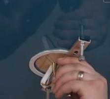 резка с внутренней части кольца