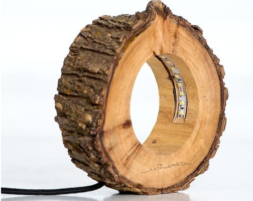 Ночник из деревянного спила