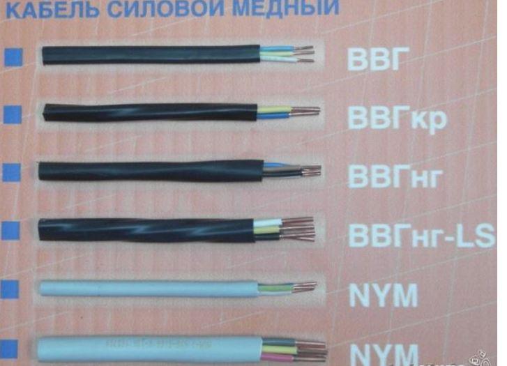 варианты силового кабеля