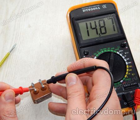 как проверить неполярный конденсатор