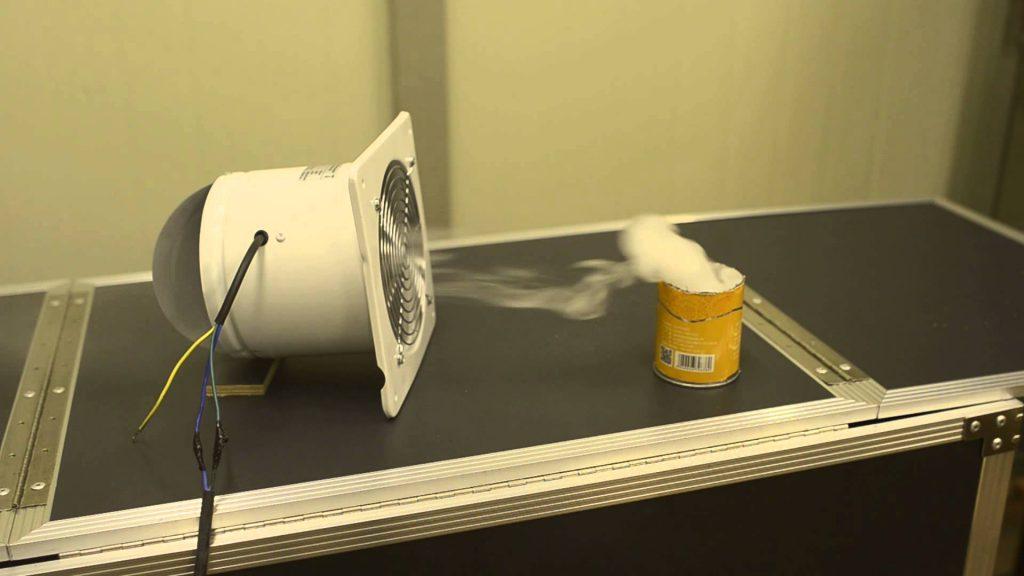 Эффективность вентилятора проверяется так