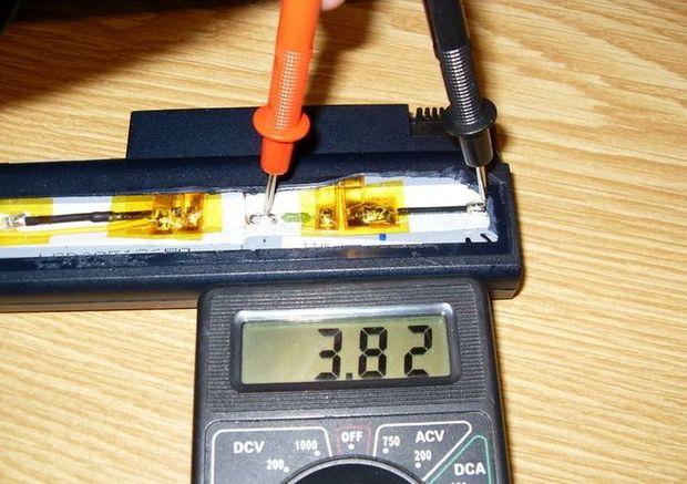 Проверка батареи аккумулятора мультиметром