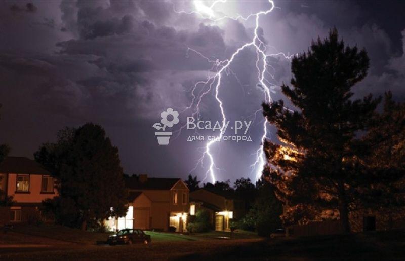 Как защитить от молнии частный дом