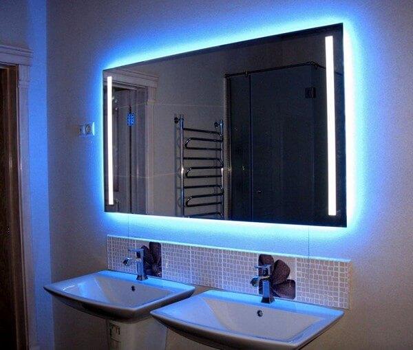 Подсветка зеркала в ванной комнате фото