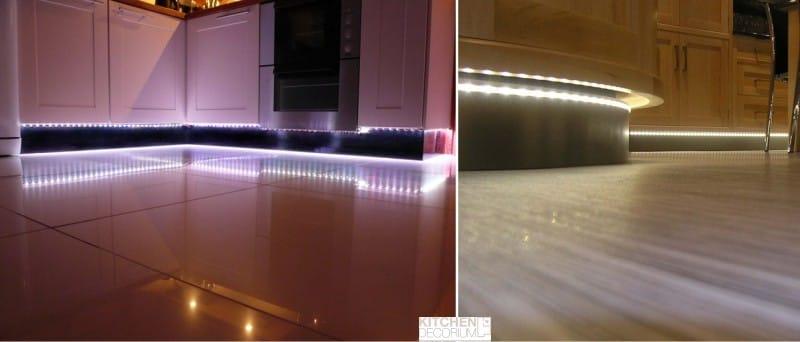 LED подсветка кухни снизу