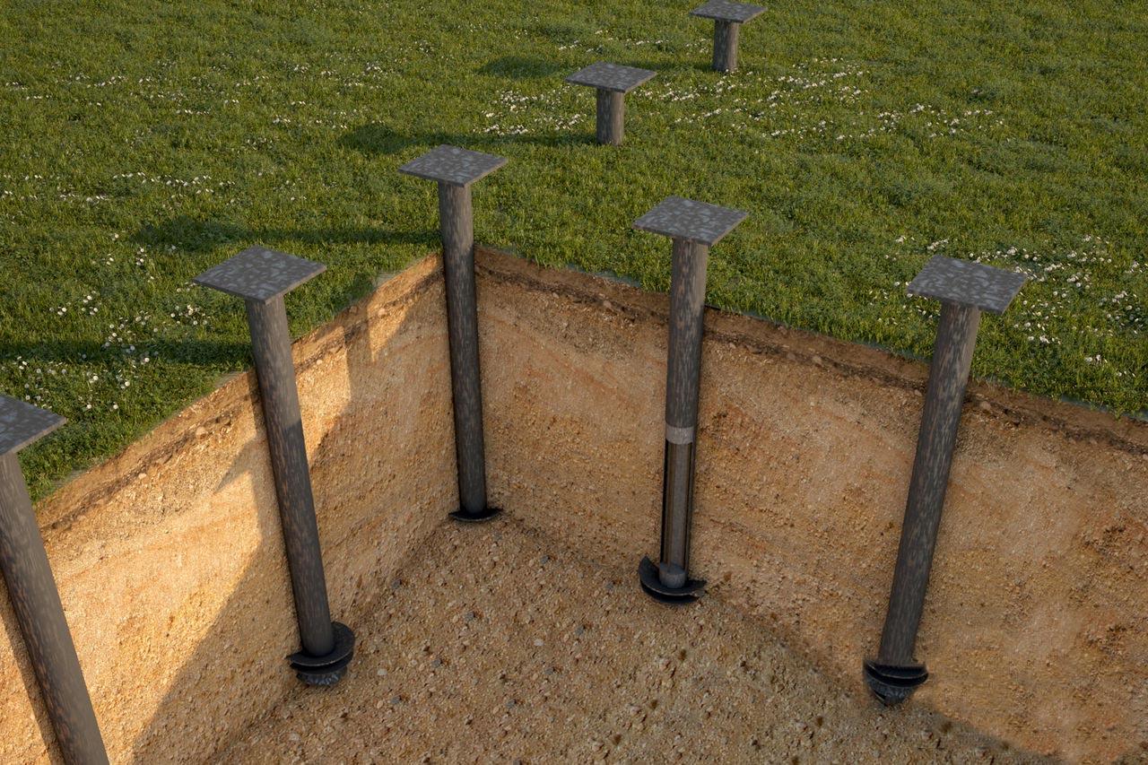 Использование металлических свай фундамента в качестве естественного заземлителя