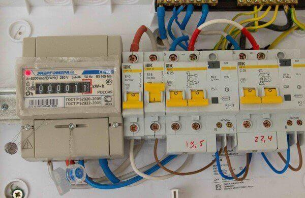 Защитная автоматика и электросчетчик