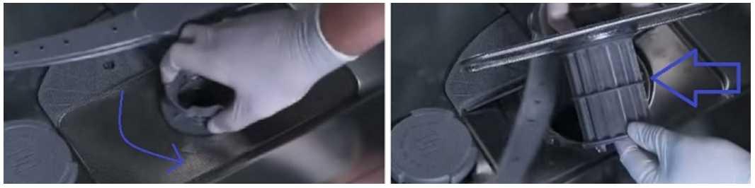Снять фильтр в посудомойке - надо знать как (можно почитать мануал)