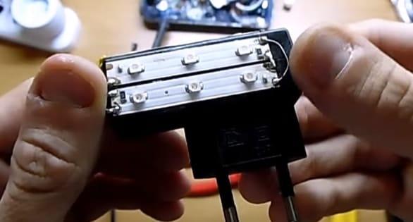 Светодиодный ночник из зарядного устройства