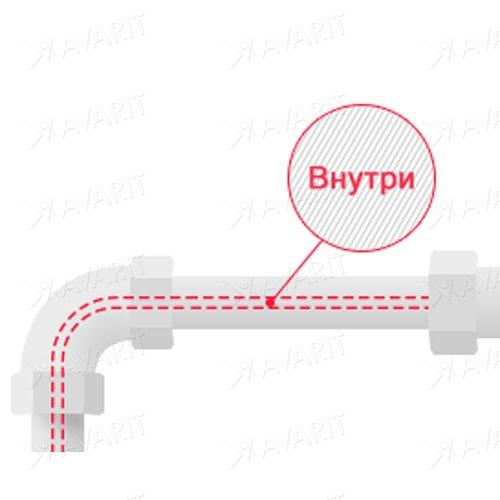 нагревательный кабель для труб внутри