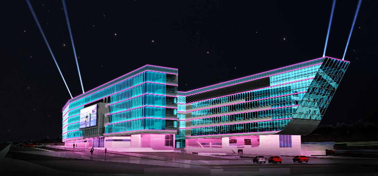 При освещении фасадов зданий большую роль играет материал стен