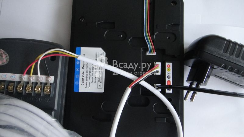 Подключение кабеля для домофона к устройству
