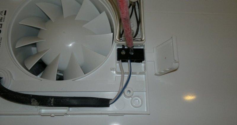Подключение проводов к вентилятору в ванной