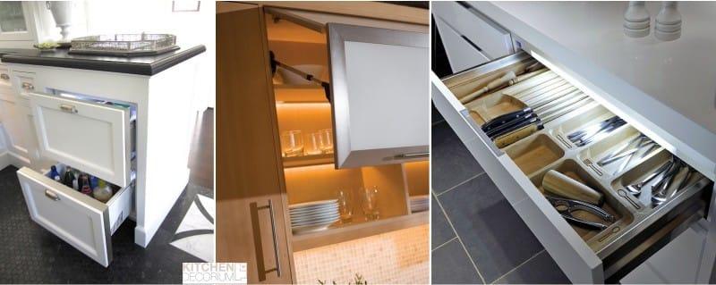 Подсветка светодиодной лентой внутри шкафов кухни