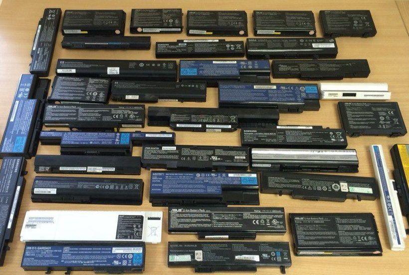 Батареи от ноутбуков