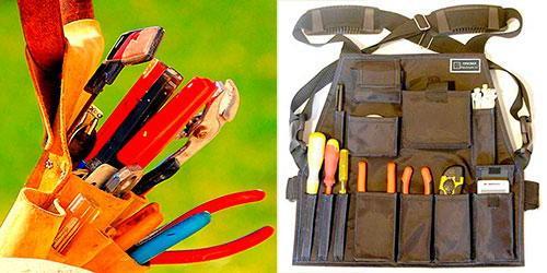 пояс и жилет для инструмента