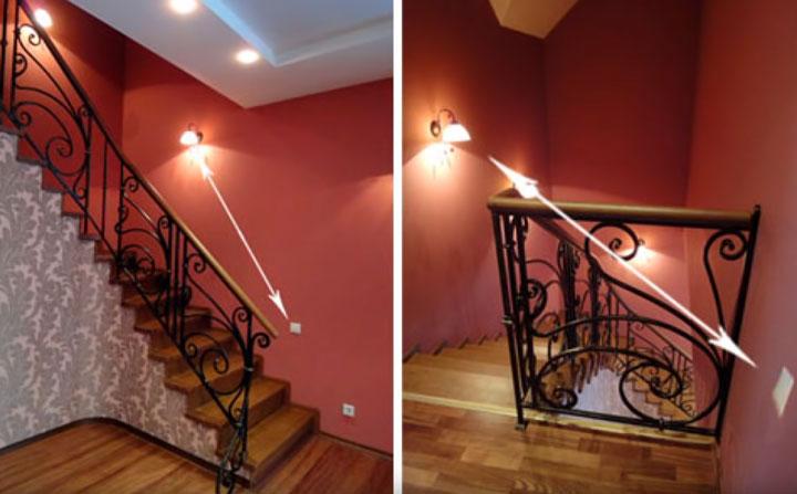 Применение проходных выключателей для освещения лестницы