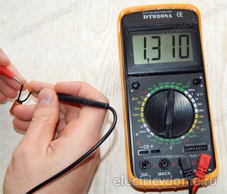 проверка электролитических конденсаторов