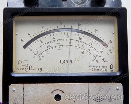 проверка конденсатора аналоговым прибором