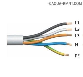 Пятипроводной кабель