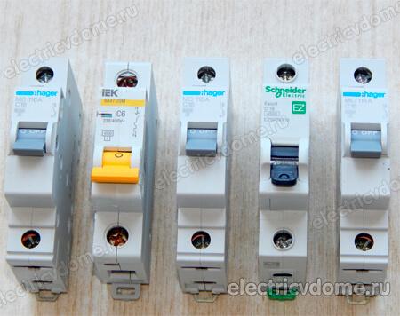 расчет и выбор автоматического выключателя