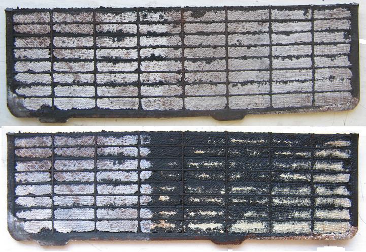 Фото солевых отложений на пластинах аккумулятора авто, electrotransport.ru