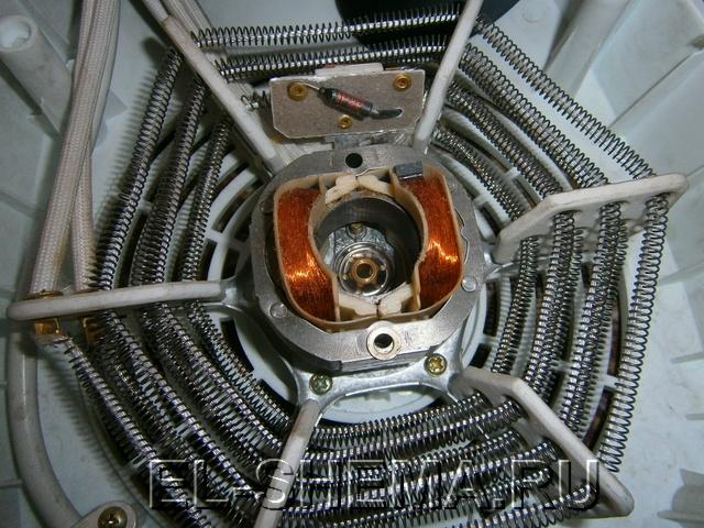 нагревательный элемент - нихромовая открытая спираль